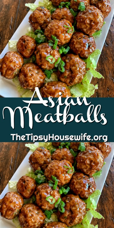 A colorful picture of cooked meatballs with a soy sauce and peanut butter glaze.
