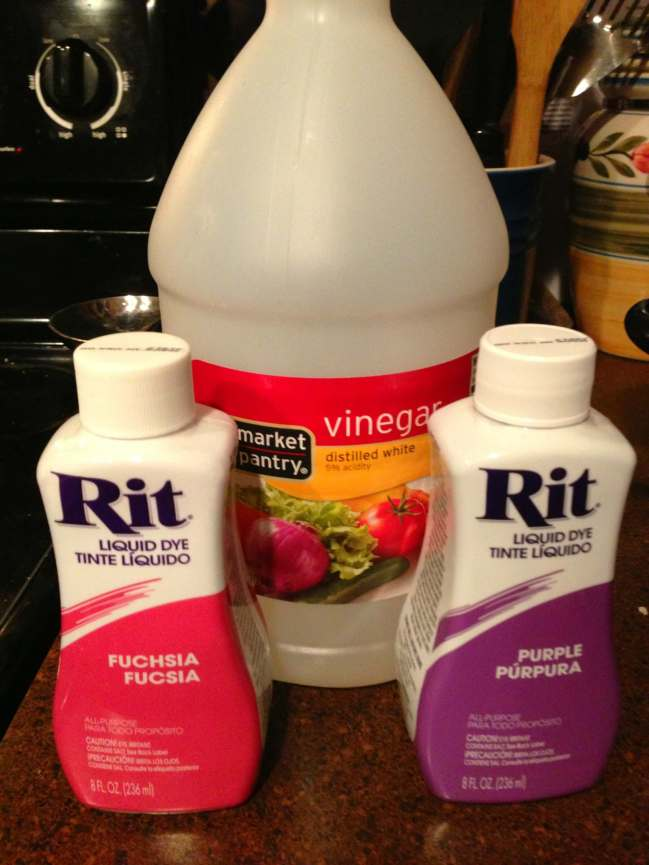 Rit Dye and Vinegar