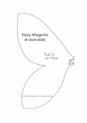 Doll Fairy Wings Sewing Pattern