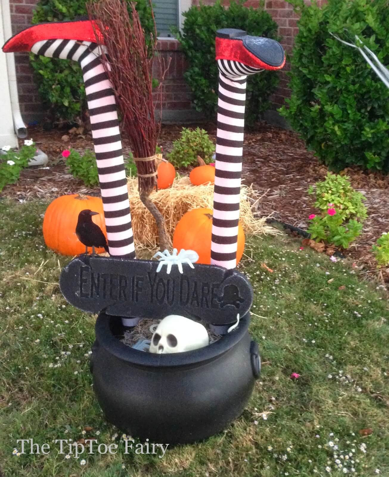 Halloween Outdoor Decorations It s a Witch Crashing
