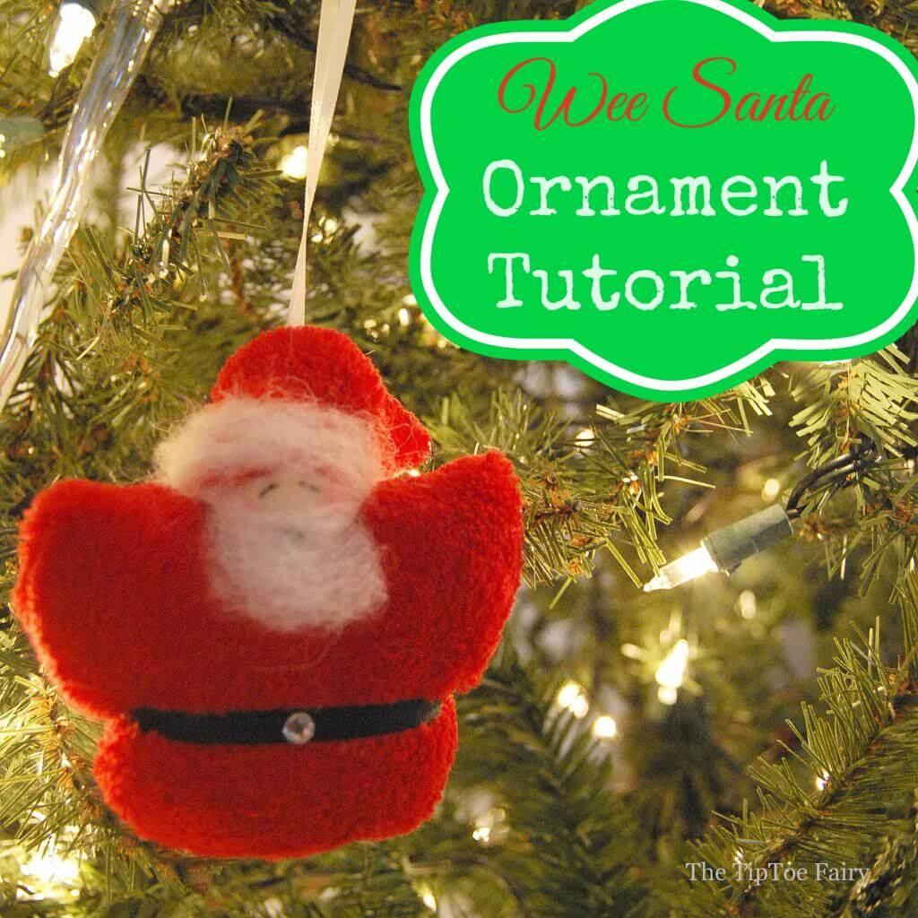 Tiny Santa Christmas Ornament