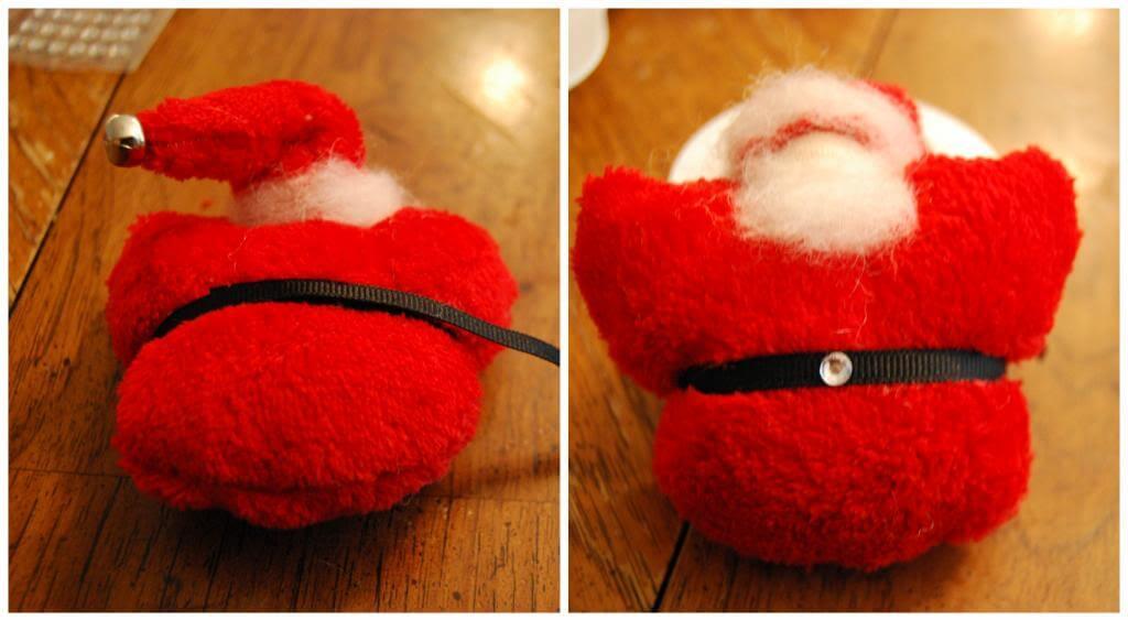 Create a belt for your Santa Christmas Ornaments.