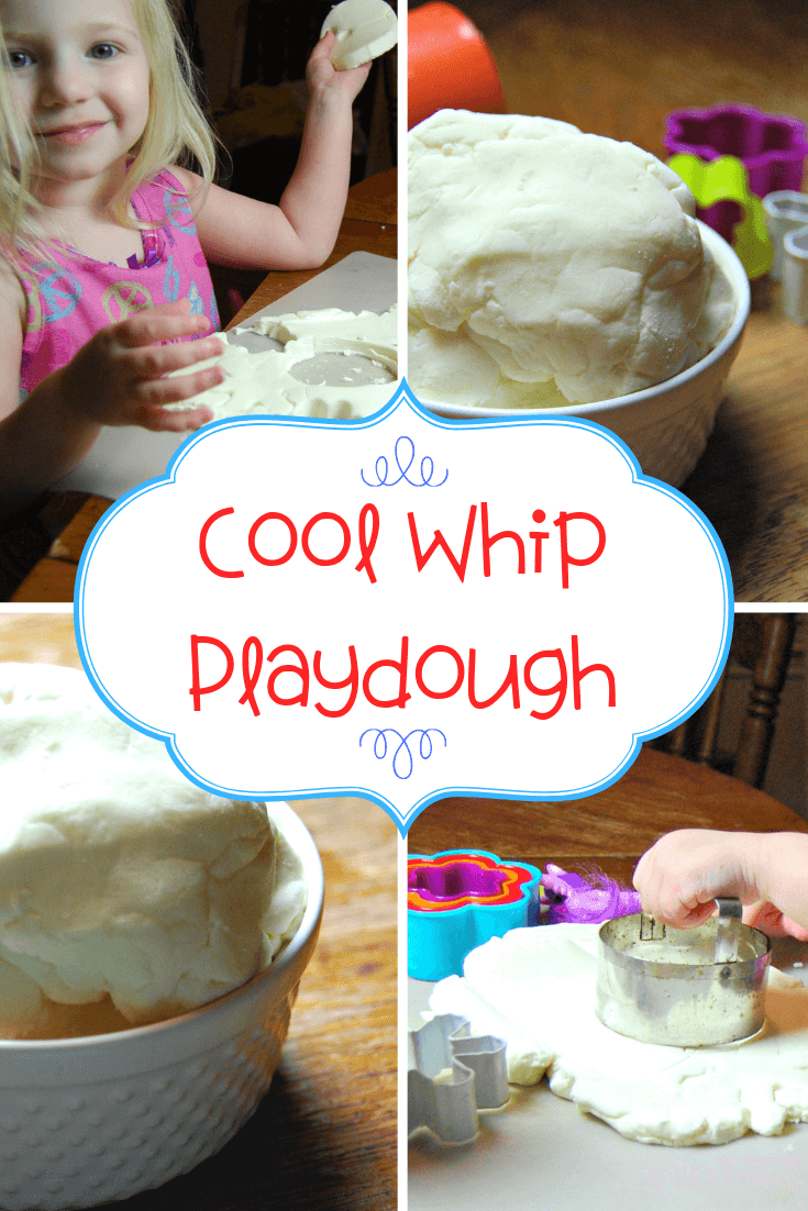 Different views of Cool Whip Play Dough