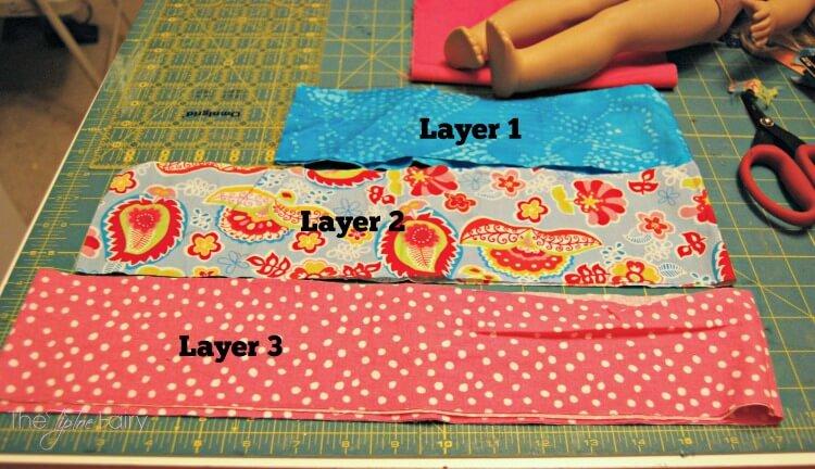 Doll twirly skirt layers to cut