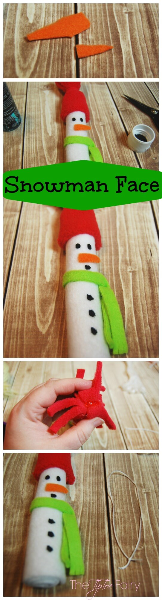 So Sew Easy Christmas in July Felt Ornaments - Easy Felt Snowman | The TipToe Fairy #christmasinjuly #christmasornaments #ornamenttutorials #tutorial