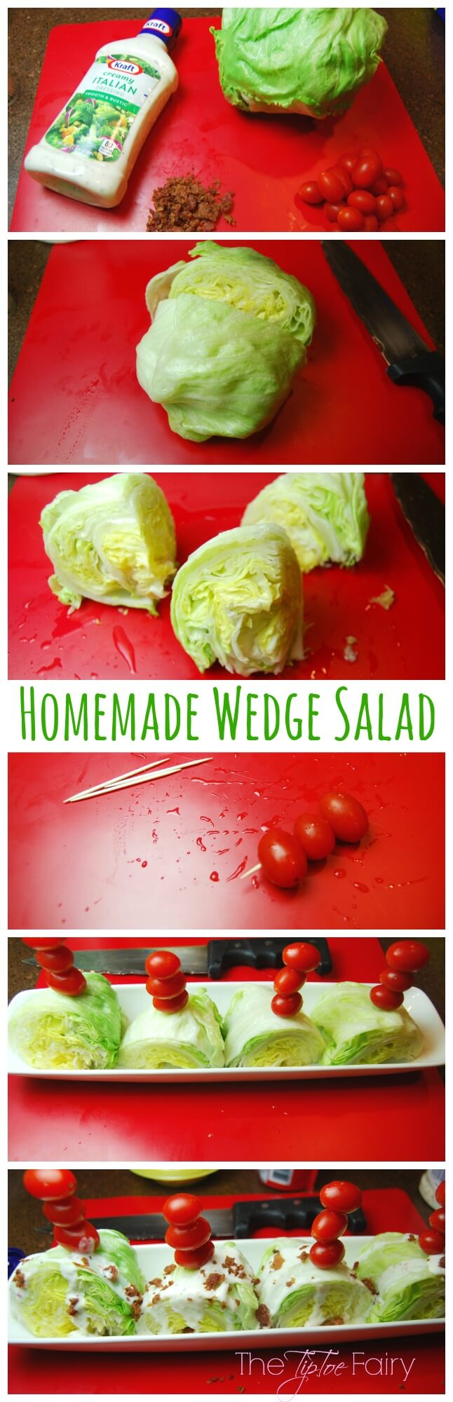 Homemade Wedge Salad | The TipToe Fairy #GameTimeHero #CollectiveBias #ad #saladrecipes #wedgesalad