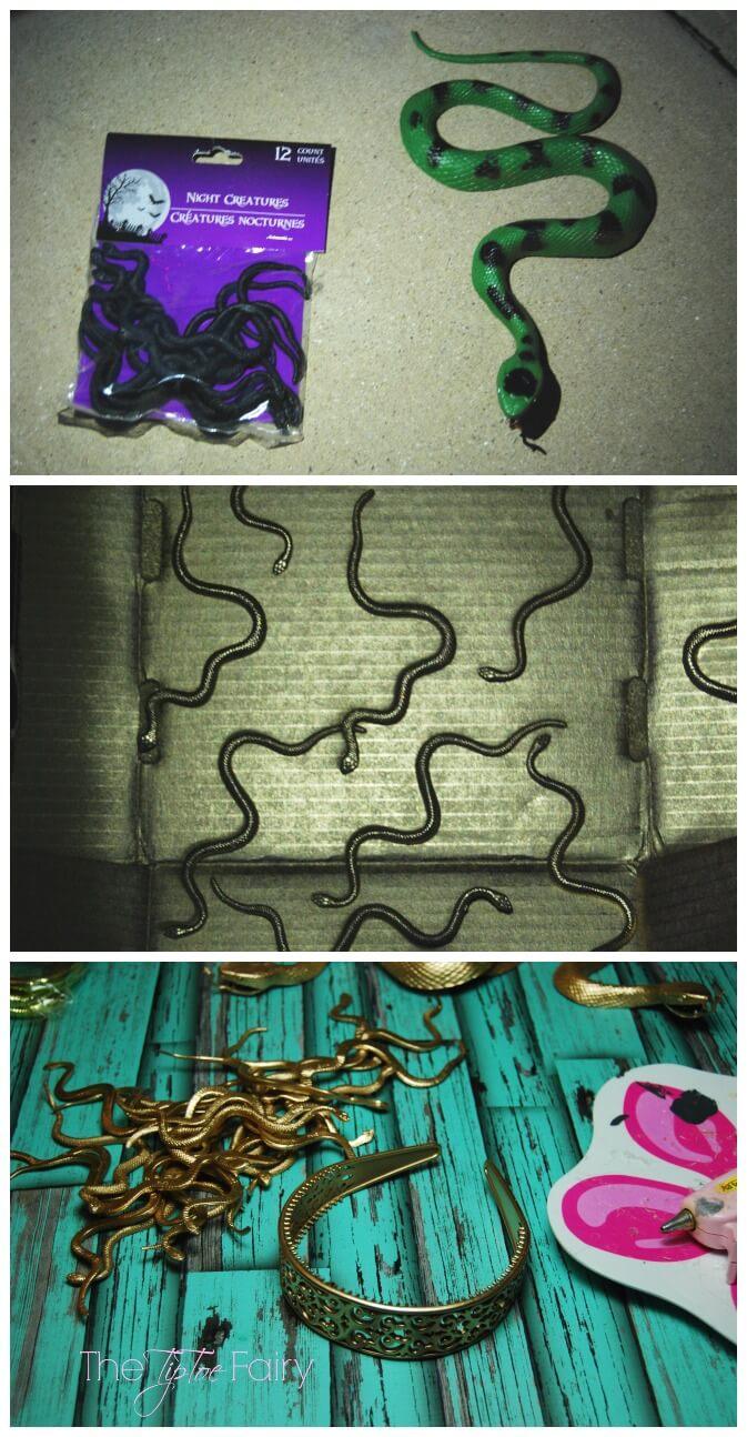 Medusa Snakes - spray painted