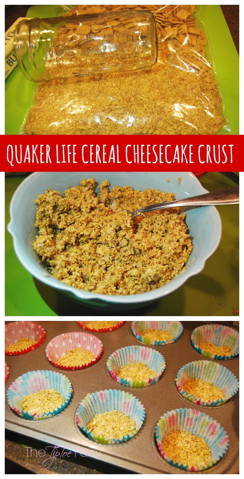 Apple Cider Mini Cheesecakes - perfect for the holidays or anytime | The TipToe Fairy #LoveMyCereal #QuakerUp #spon #cheesecake