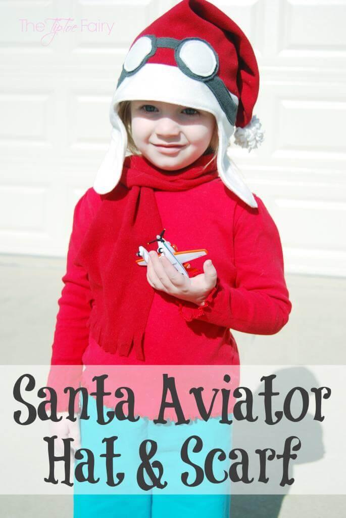Fleece Santa Aviator Hat