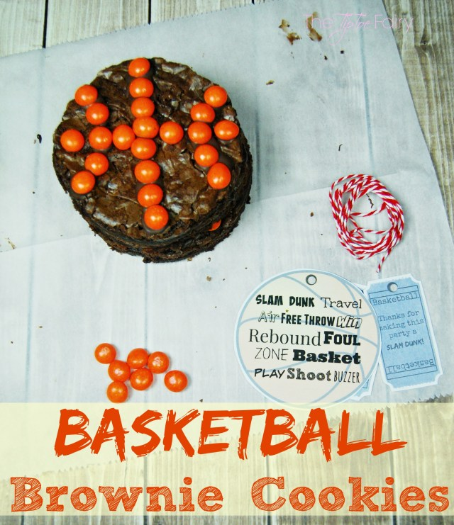 Basketball Brownie Cookies with Skittles - Dunk the Rainbow, Taste the Rainbow #SkittlesTourney #ad | The TipToe Fairy