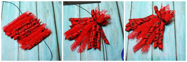 Make a Ladybug Korker Hair Bow! Tutorial with Faultless Premium Starch for perfect korker ribbons! #ad | The TipToe Fairy