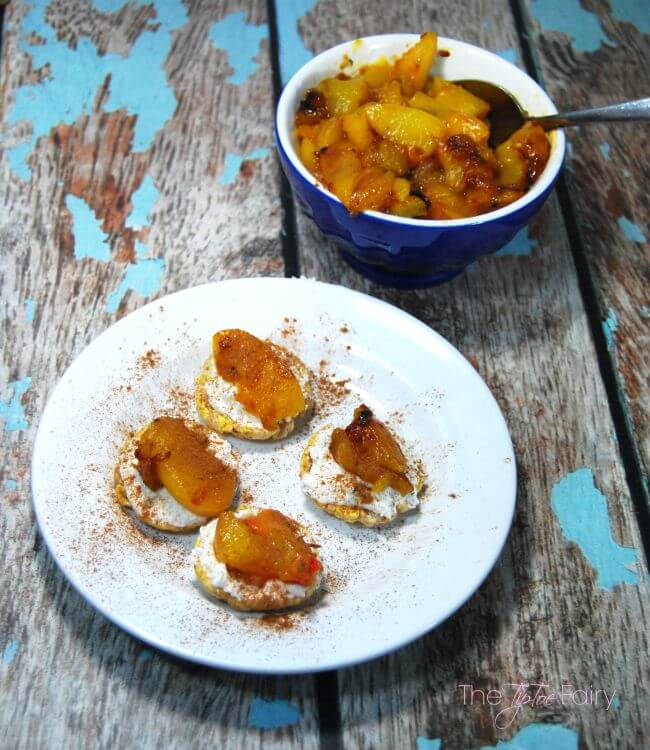 Roasted Peach Caramel Bites - gluten free! #gfwalmart #ad | The TipToe Fairy