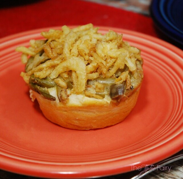 Green Bean Casserole Cups - the perfect individual side dish for the Thanksgiving or Christmas dinner.