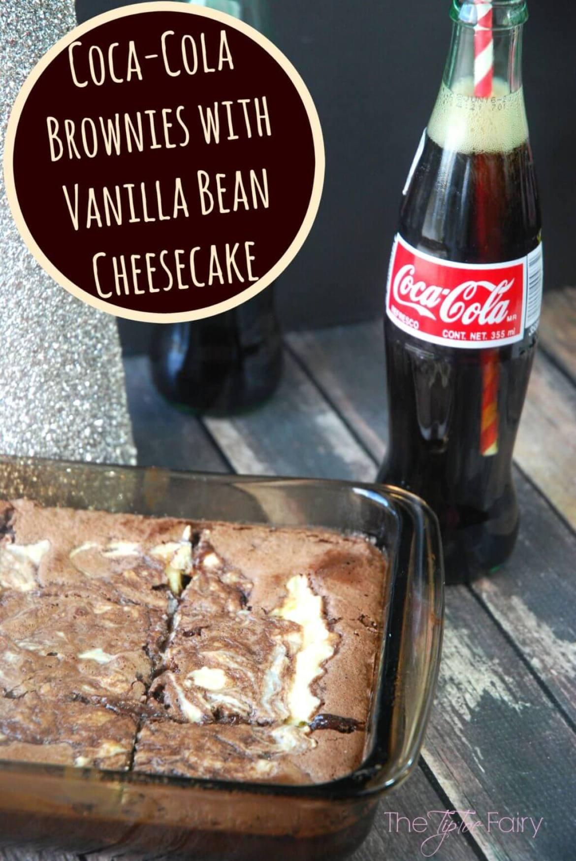 Coca-Cola Brownies with Vanilla Bean Cheesecake #ad #ShareHolidayJoy | The TipToe Fairy
