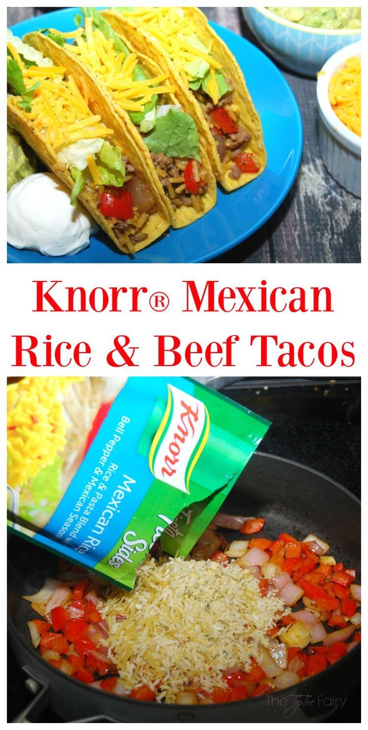 Knorr 174 Mexican Rice Amp Beef Tacos The Tiptoe Fairy