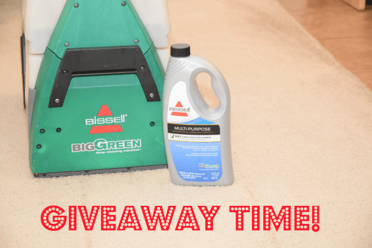 Come over & enter to #win a free rental for a BISSELL Big Green carpet cleaner #ad #bissellclean