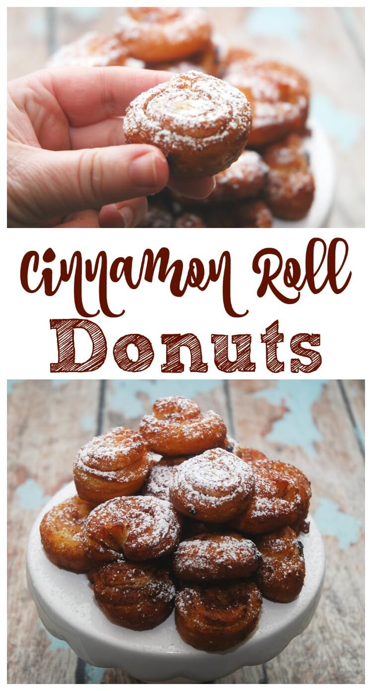 Turn refrigerator cinnamon rolls into #donuts! #yum #food #foodie