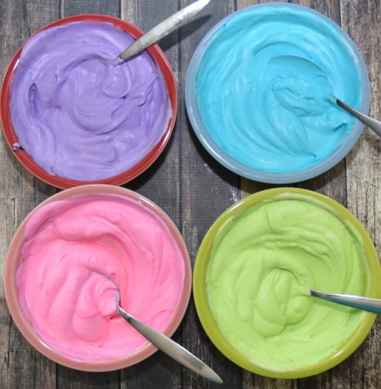 No Churn Unicorn Ice Cream for #IceCreamWeek! It's rainbow! #kids #icecream #food