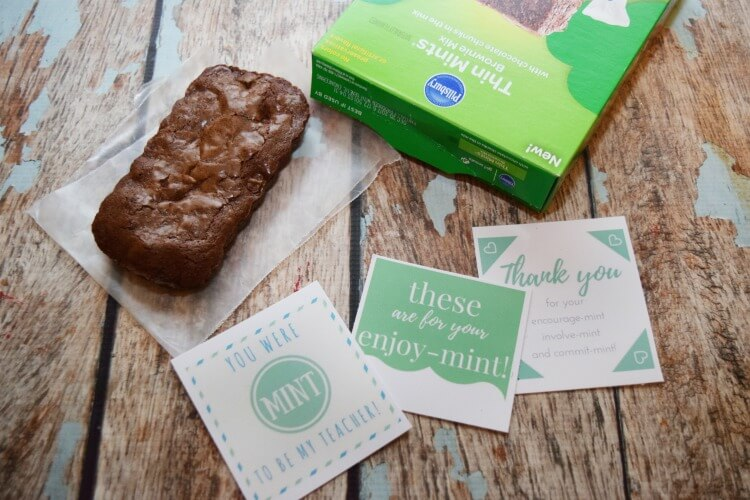 #Free MINT #printable for Girl Scout® Thin Mints® Brownie Mix #ad #ClassicInspiredMixes