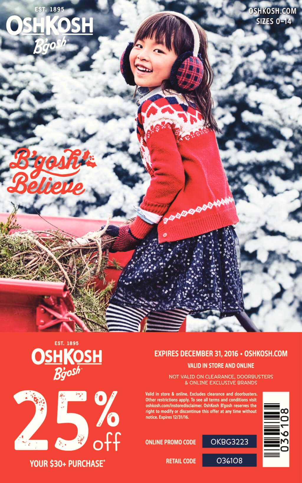 Get ready for the holidays w @OshKoshBgosh! Come grab a coupon code! #BgoshBelieve #ad