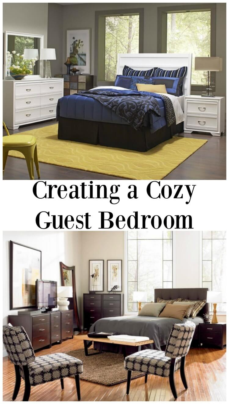 Tips to Creating a Cozy Guest Bedroom w #CORTatHome #ad @CortFurniture