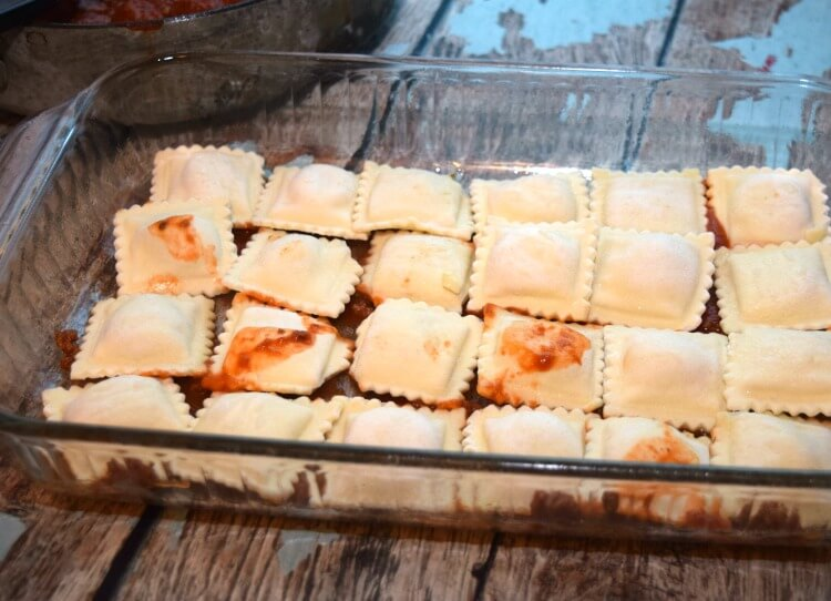 Cheesy Meatball Ravioli Lasagna - super easy & perfect for Nat'l Meatball Day! #ad #MeatballPerfection