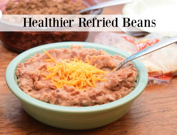 Healthier Refried Beans in less than 15 min w/canned pintos! #food #yum #texmex