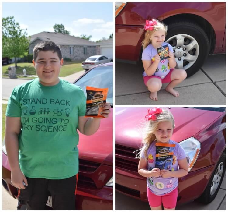 Get the kids to help w/the car wash! #ad #pmedia #LessTimeMoreShine @Armor_All @Walmart
