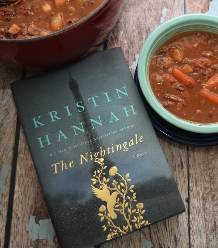 Country French Beef Stew to go along w/my review of #TheNightingale from @StMartinsPress #ad @SheSpeaksUp