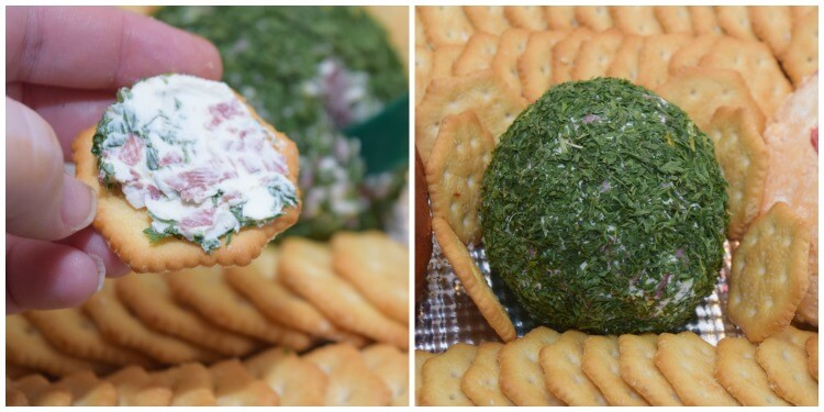 Just 3 ingredients for this easy Cheese Ball for Game Time Snacks w/ @ritzcrackers! #ad #TogetherforGameTime @cocacolaunitedstates @Walmart @SheSpeaksUp