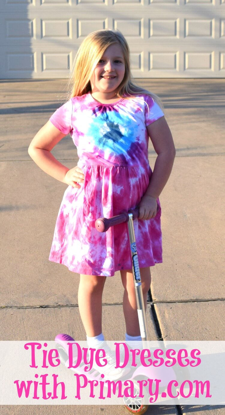 Tie dye with primary.com knit dresses!