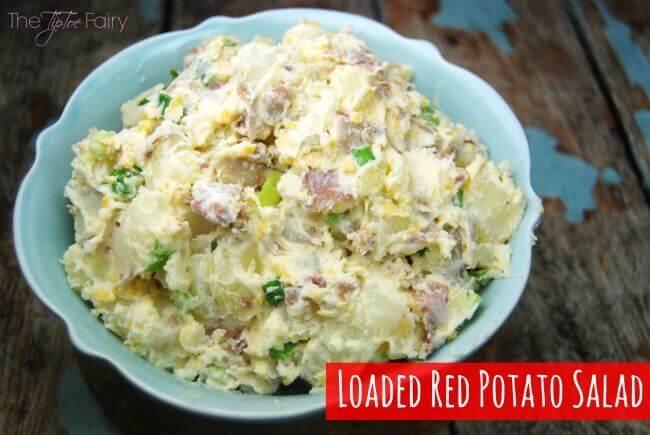 Loaded Smashed Red Potato Salad
