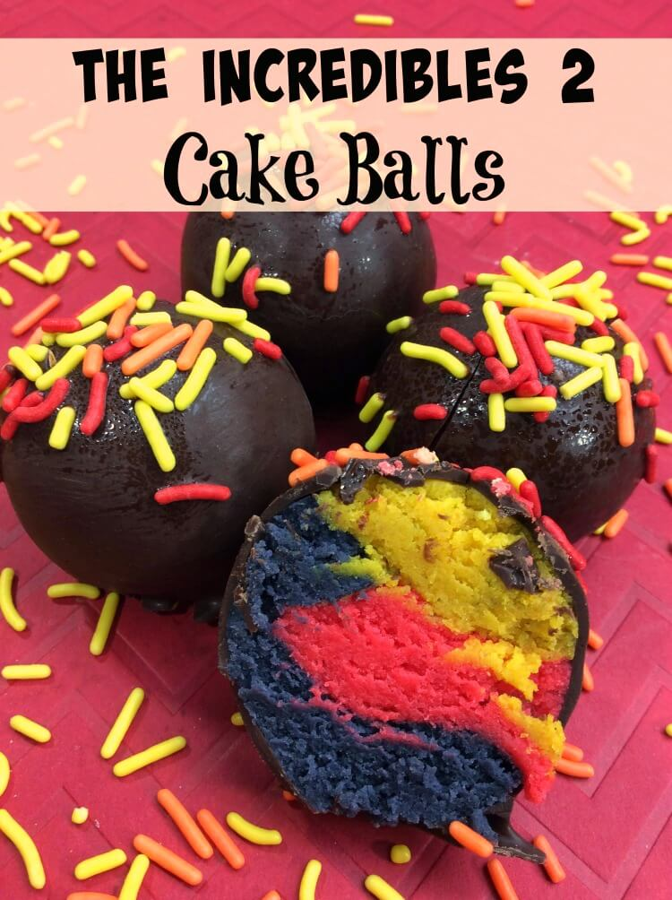 Let's Make Cakes Balls for The Incredibles 2.