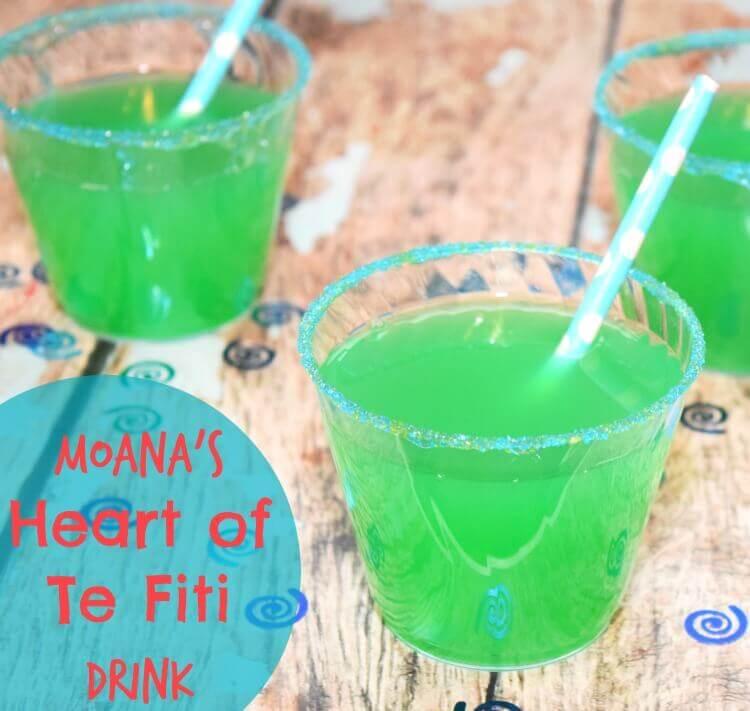 Moana Heart of Te Fiti Drink & Movie Review | The TipToe Fairy