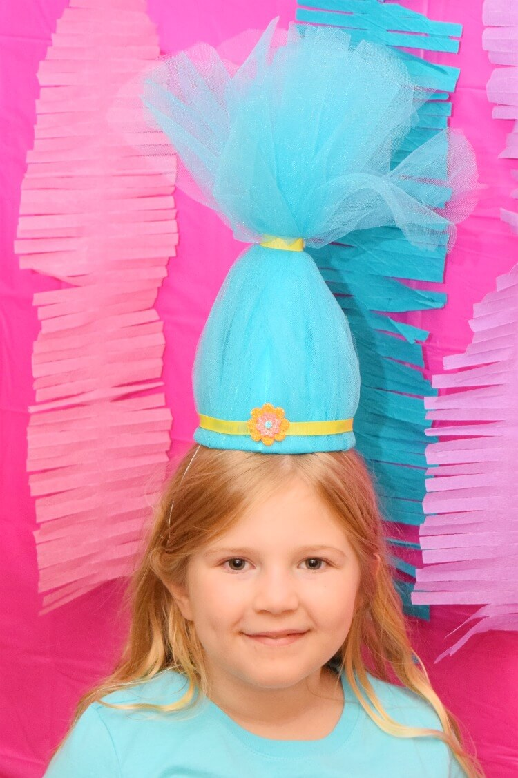 Troll Party Hats turquoise