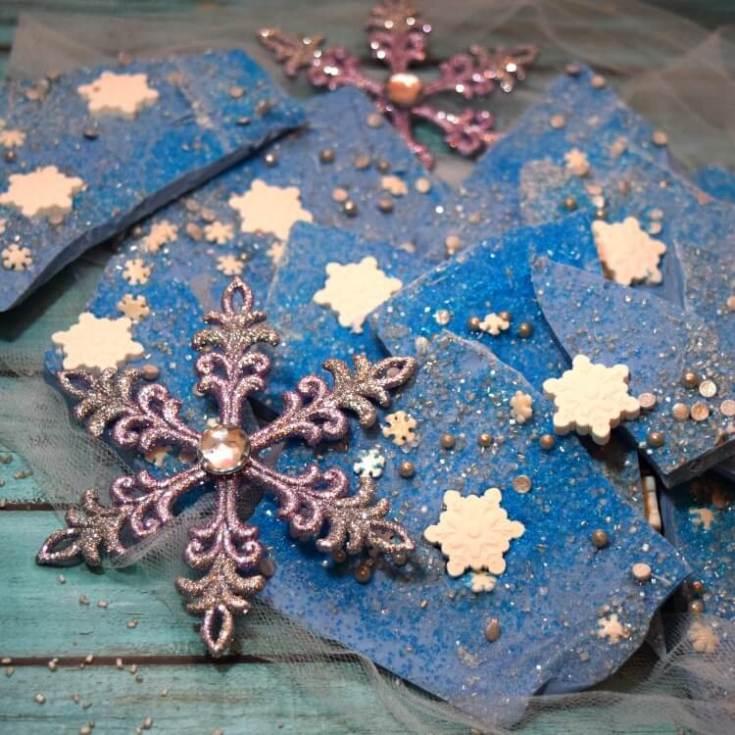Jack Frost Christmas Chocolate Bark Recipe