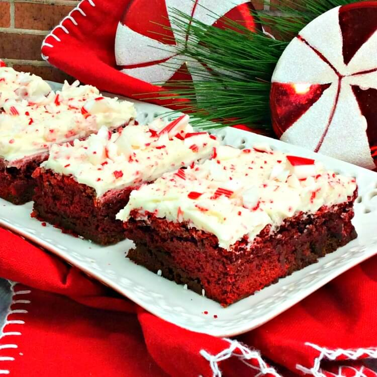 How to make Peppermint Swirl Red Velvet Brownies from brownie mix
