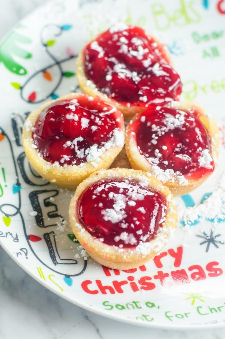 Make Cherry Christmas Cookie Cups for Santa to eat