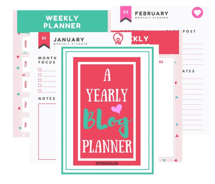 FREE 2019 Blog Planner