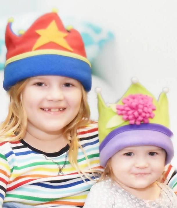 Fleece Crowns for Kids in 2 sizes