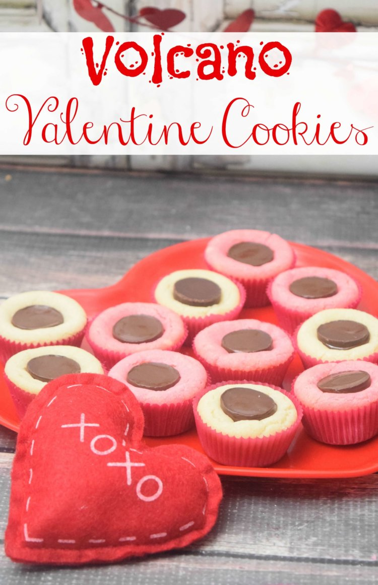 How to make Volcano Valentine Cookies