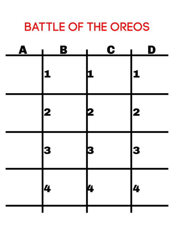 Battle of the OREOs FREE Printable