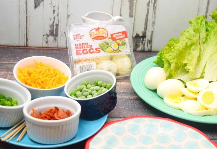 Seven layer salad wrap ingredients