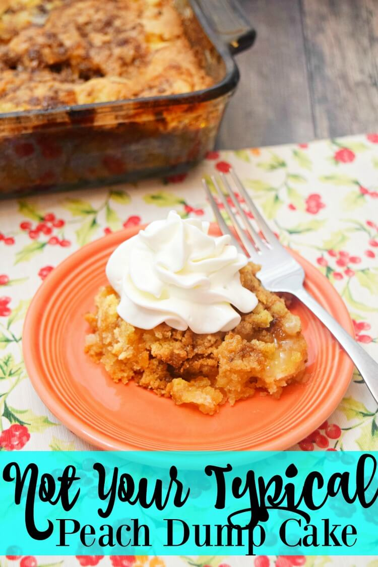 Not Your Typical Peach Dump Cake