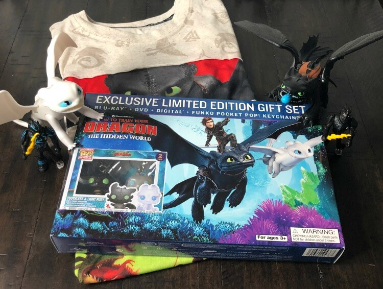 How to Train Your Dragon 3 - toys and DVD movie
