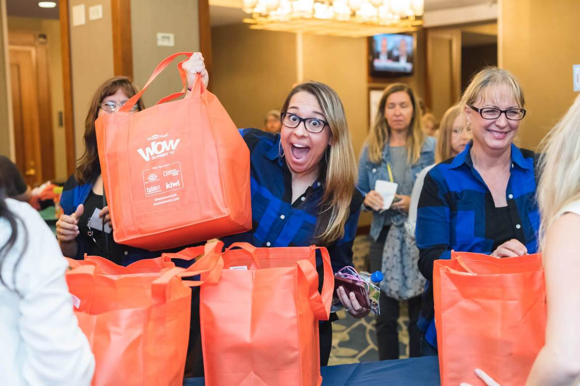 Goody bags at Moms Meet WOW Summit '19: Texas