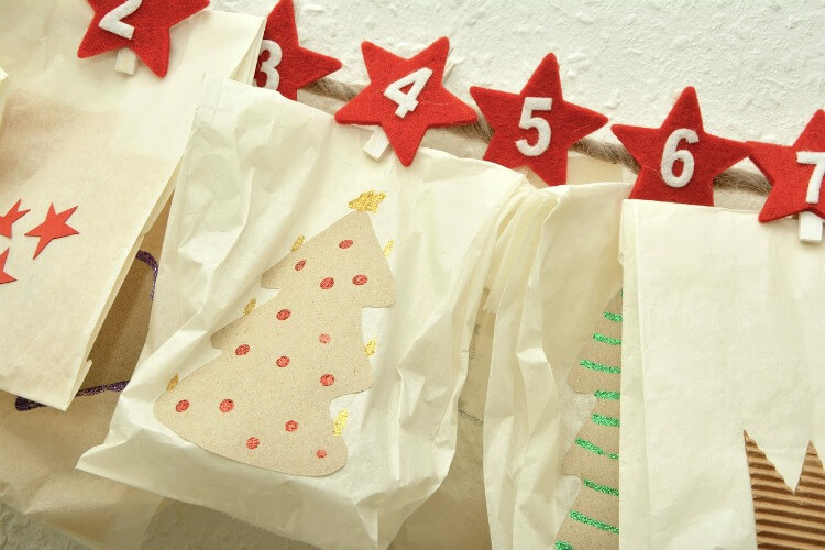 Paper bag versions of DIY Christmas Advent Calendars
