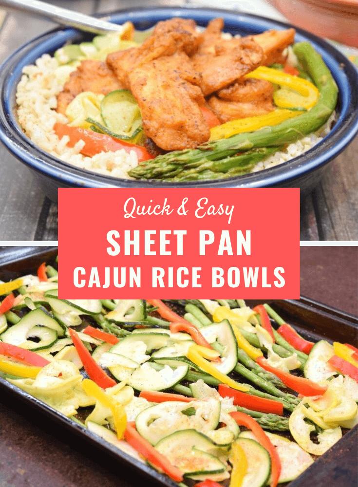 Sheet Pan Cajun Rice Bowls