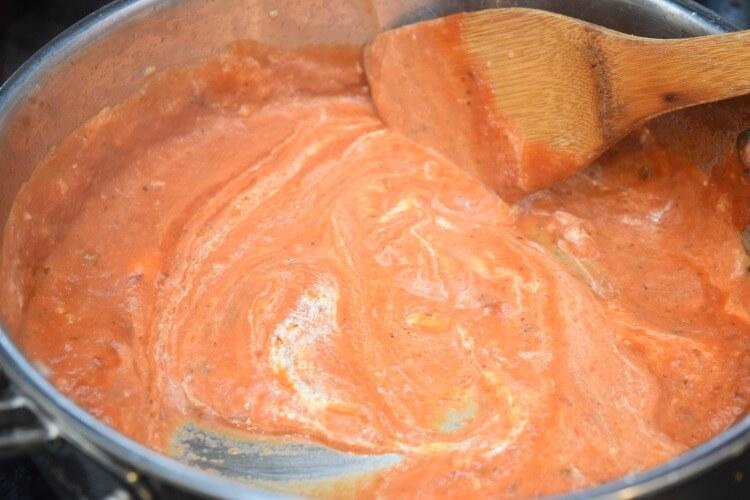 Spaghetti sauce with Greek yogurt added for creaminess.