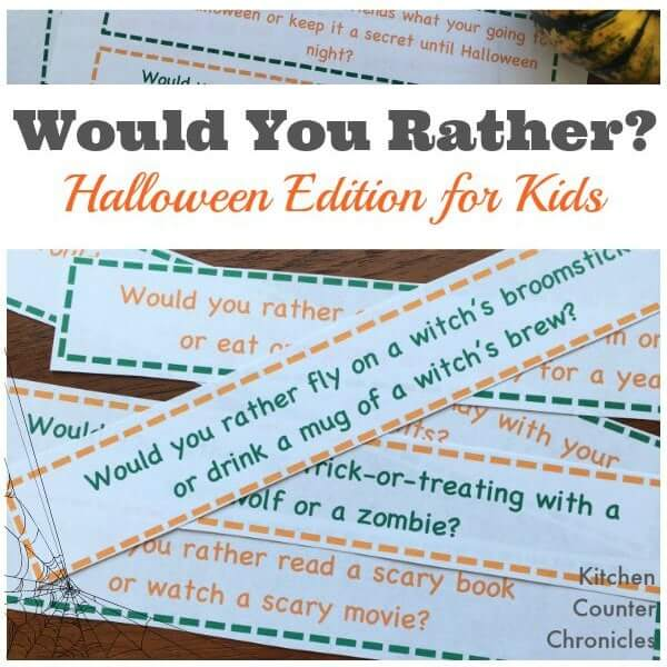 Silly and Spooky Would You Rather Halloween Questions for Kids